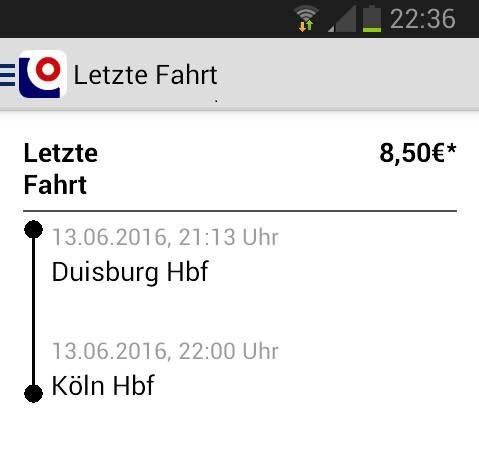 Touch&Travel Duisburg-Köln