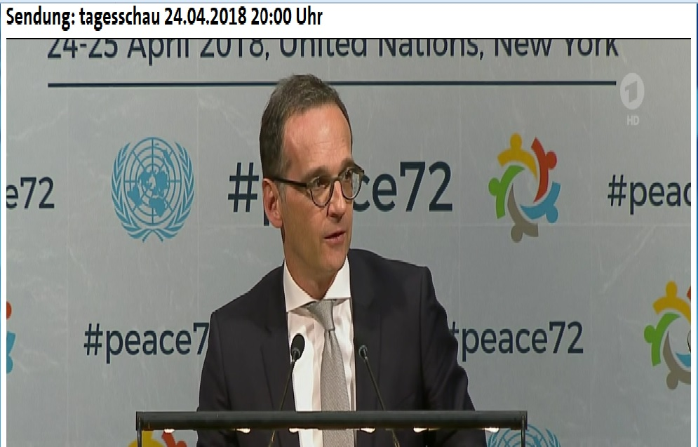 Heiko Maas vor der UN