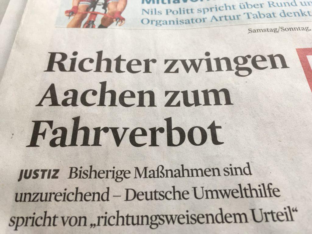 Aachen Fahrverbot