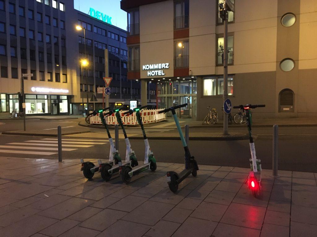 eScooter am Breslauer Platz